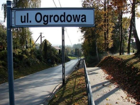 ul. Ogrodowa, Masłów Pierwszy. Październik 2008r.