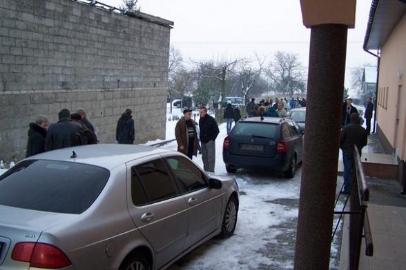 Remiza OSP. Spotkanie z prezesem PiS przed wyborami - grudzień 2010r.