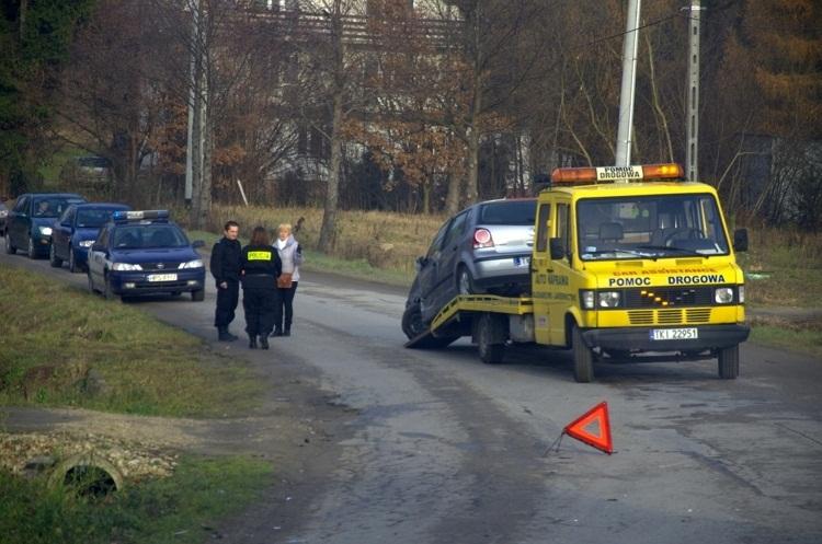 Wola Kopcowa, wypadek na ul. Świętokrzyskiej - 2012r.