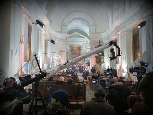 Święty Krzyż. Nagranie telewizyjnego koncertu kolęd, grudzień 2010r.