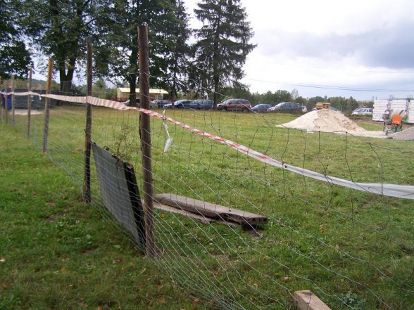 Budowa Szklanego Domu rozpoczęta - 2.10.2009r.