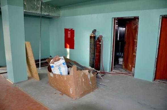 Budowa hali sportowej w Masłowie - 4.11.2011r.