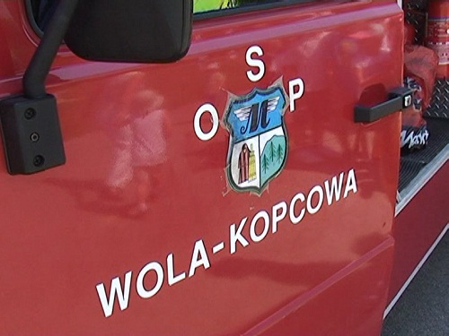 Dzień Dziecka ze strażakami z Woli Kopcowej - 6.06.2011r.
