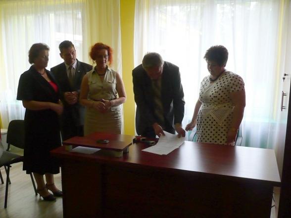 Rosyjska delegacja w Zespole Szkół w Mąchocicach Kap. - 7.06.2011r.
