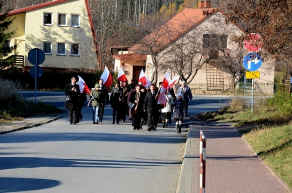 Święto Niepodległości - uroczystości w Wiśniówce