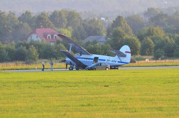 Wypadek na lotnisku - 9.07.2011r.