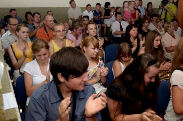 Pierwszy występ młodych muzyków z Orkiestry Dętej - 1.07.2012r.