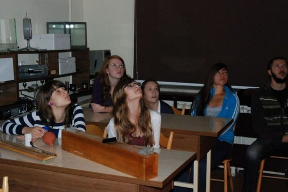 Zajęcia z fizyki dla gimnazjalistów z Mąchocic Kapitulnych