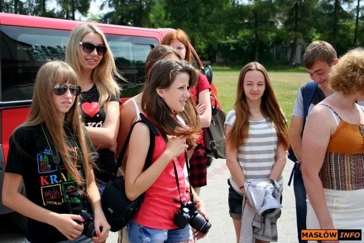 Młodzież z Usola Syberyjskiego w gminie Masłów - lipiec 2013r.
