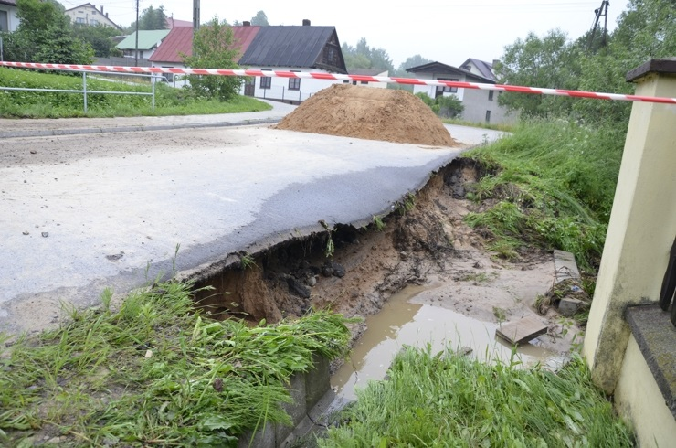 Obraz gminy po ulewie - 6.06.2013r.