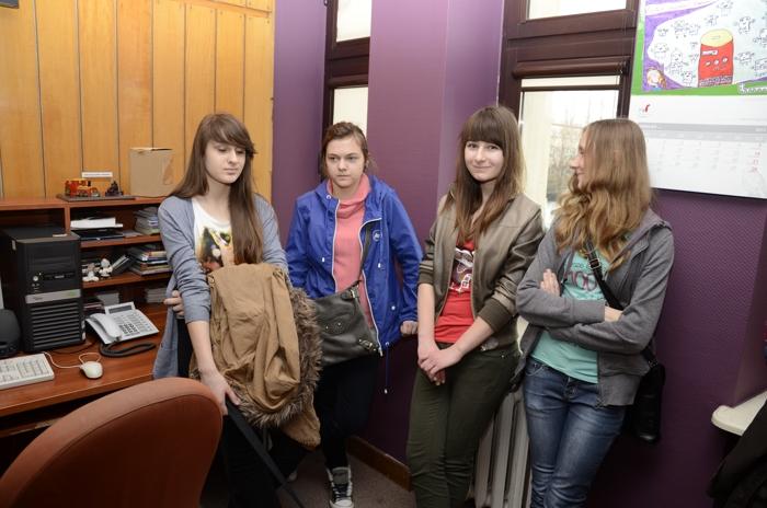Uczestnicy młodzieżowego projektu w Radiu Kielce - 13.04.2013r.