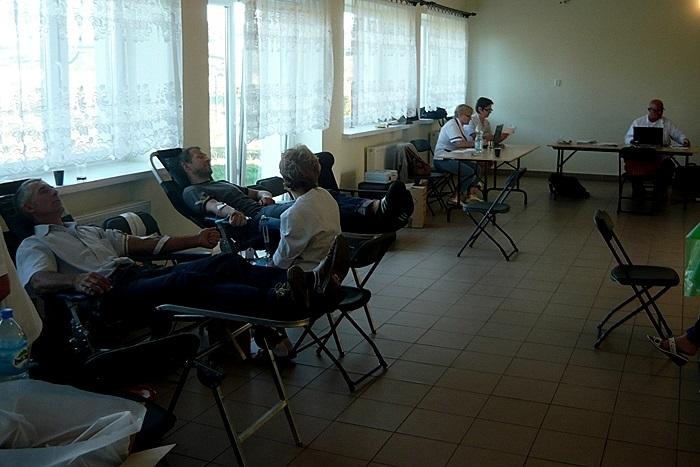 Zbiórka krwi w OSP Ciekoty - 8.09.2013r.
