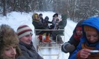 Najmłodsi z Mąchocic Scholasterii bawili się na kuligu